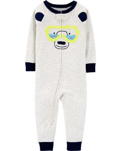 f1ff1758e06d 1-Piece Bear Snug Fit Cotton Footless PJs