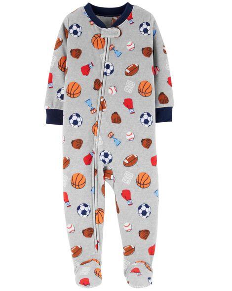 1-Piece Sports Fleece PJs