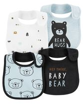 4-Pack Bear Teething Bibs, Color, hi-res
