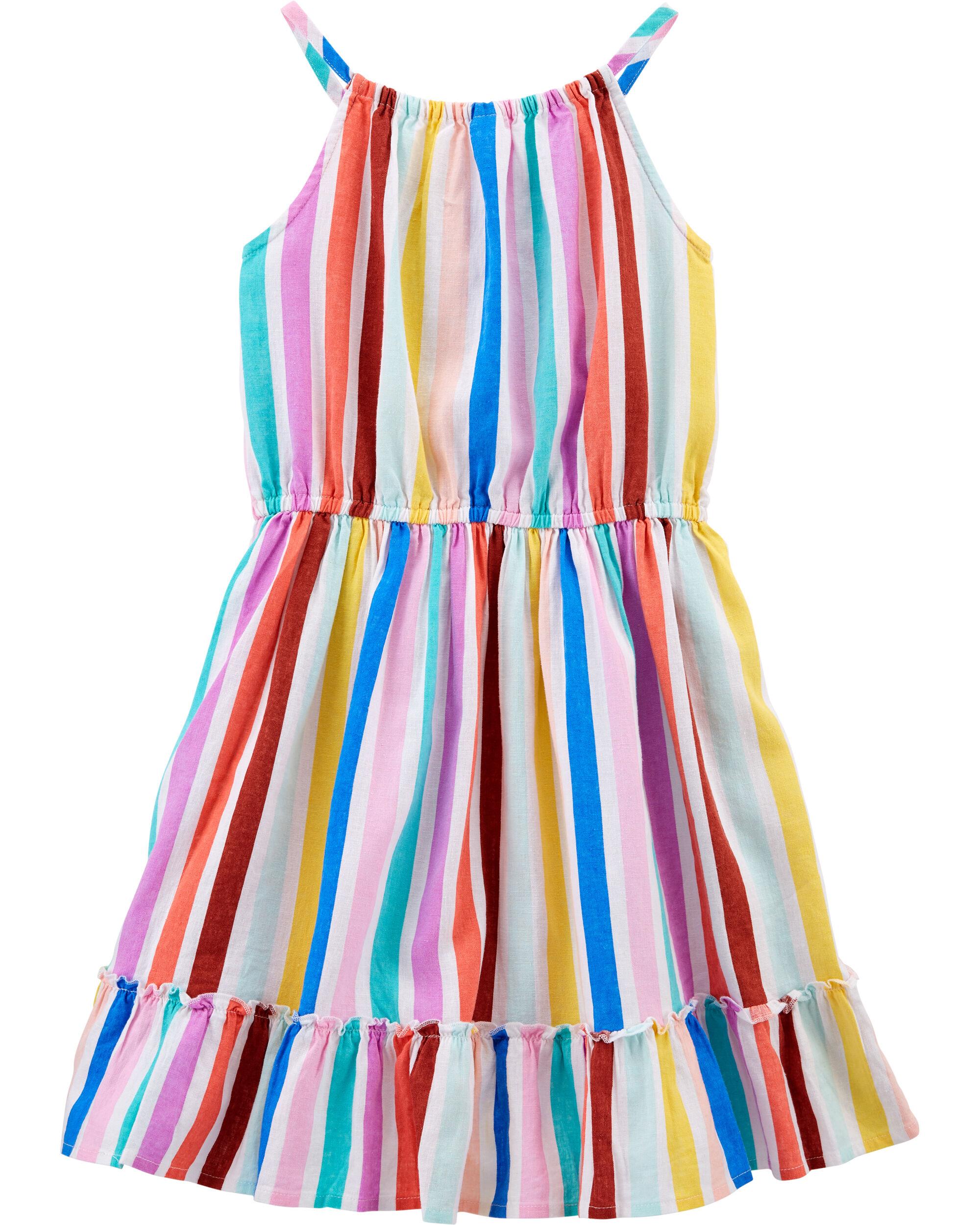 *CLEARANCE* Rainbow Stripe Dress
