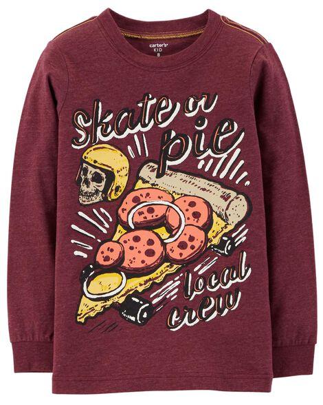 Skateboard Pizza Snow Yarn Tee