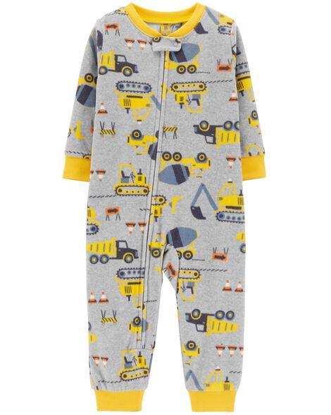 4a9876fb0395 1-Piece Construction Fleece Footless PJs