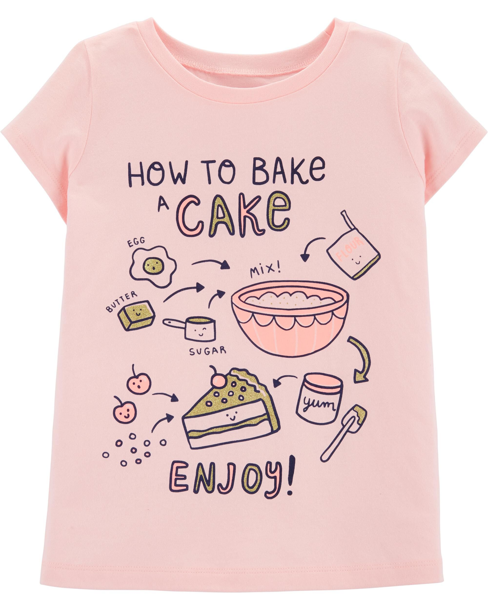 *DOORBUSTER*Glitter How To Bake A Cake Jersey Tee