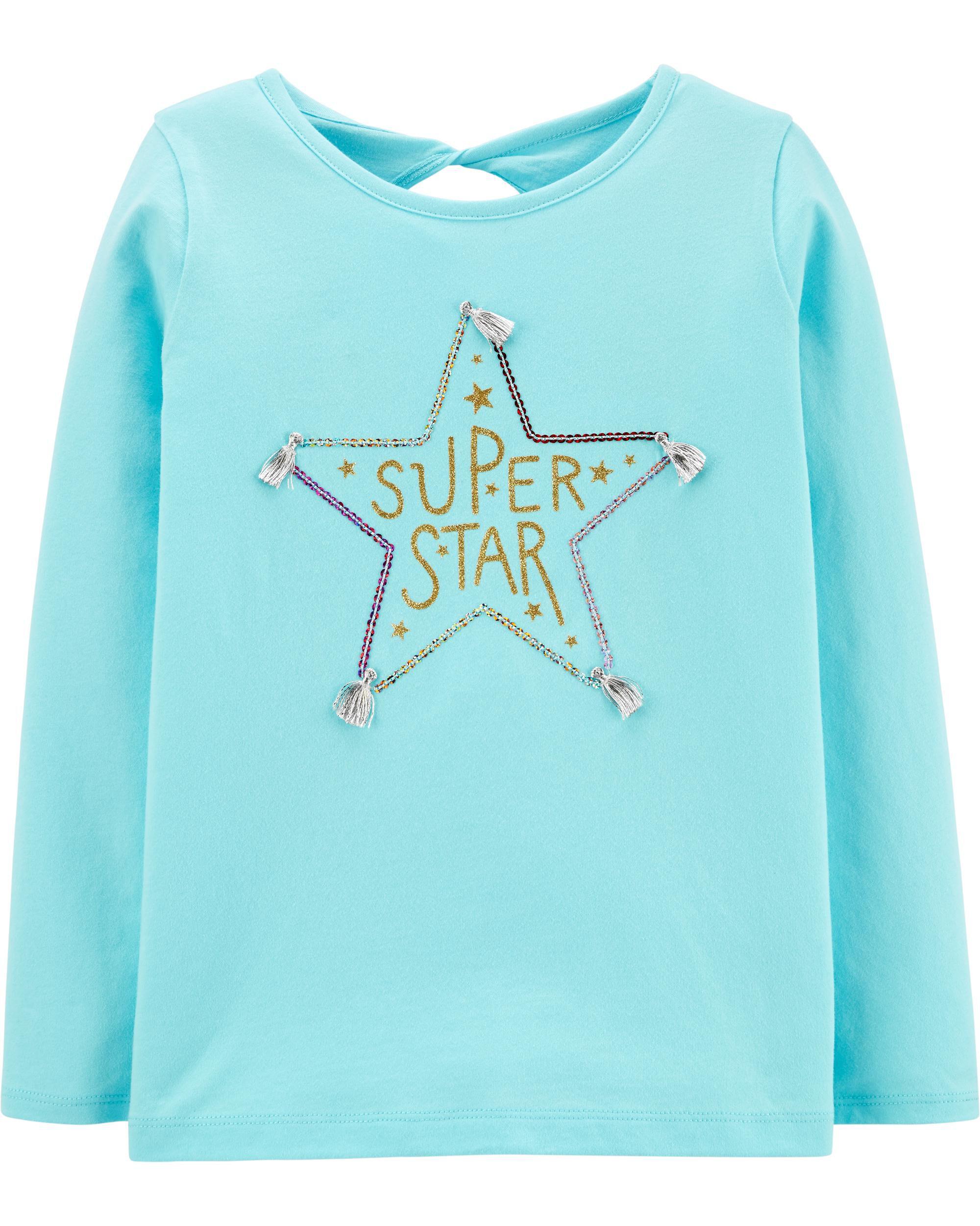 *CLEARANCE* Glitter Super Star Jersey Tee