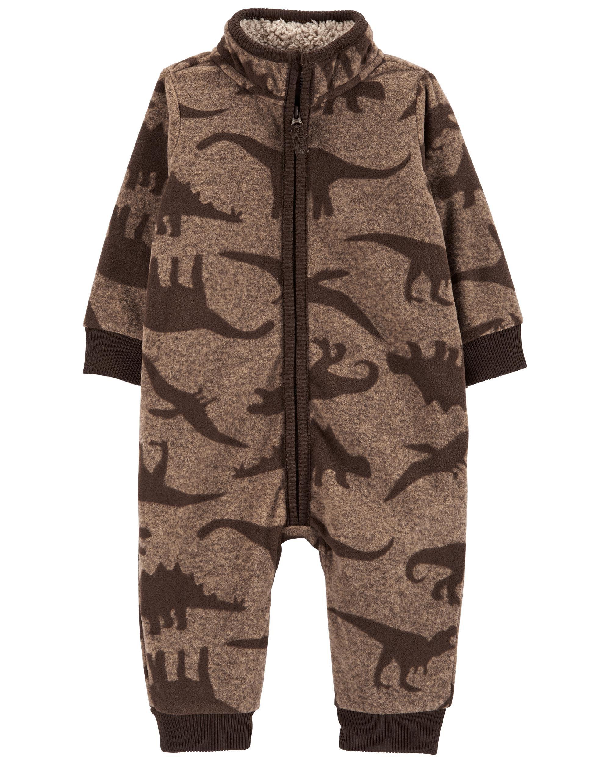 *CLEARANCE* Dinosaur Fleece Jumpsuit