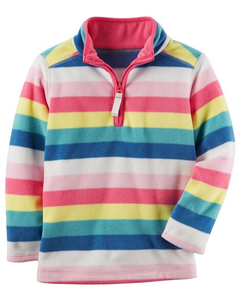 38fc2f2fa504 Striped Fleece Pullover