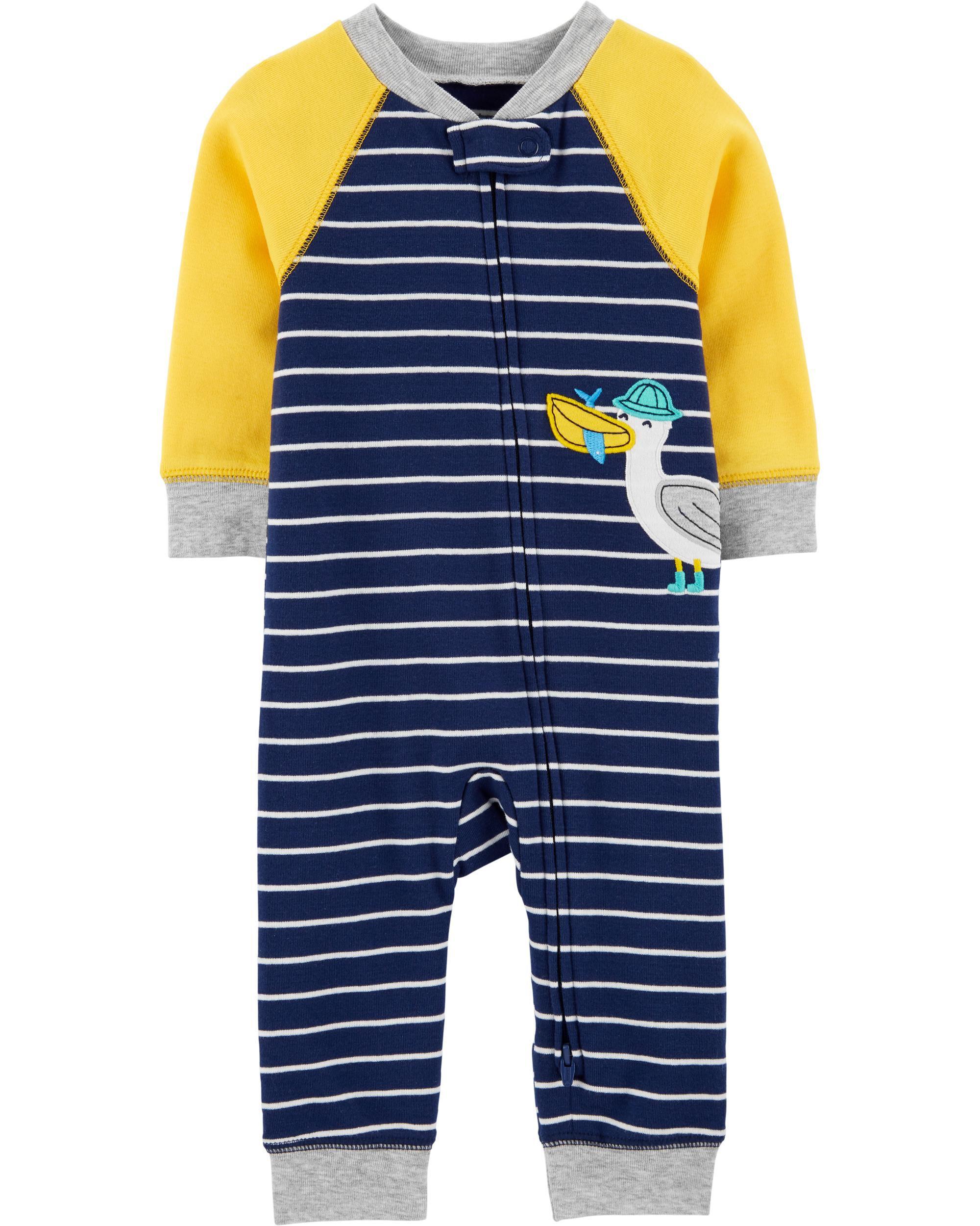 *CLEARANCE* Seagull 2-Way Zip Cotton Sleep & Play