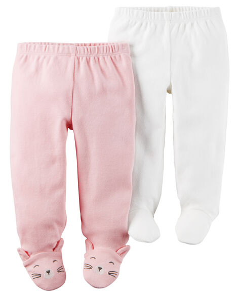 7eeee055a 2-Pack Babysoft Footed Pants | Carters.com