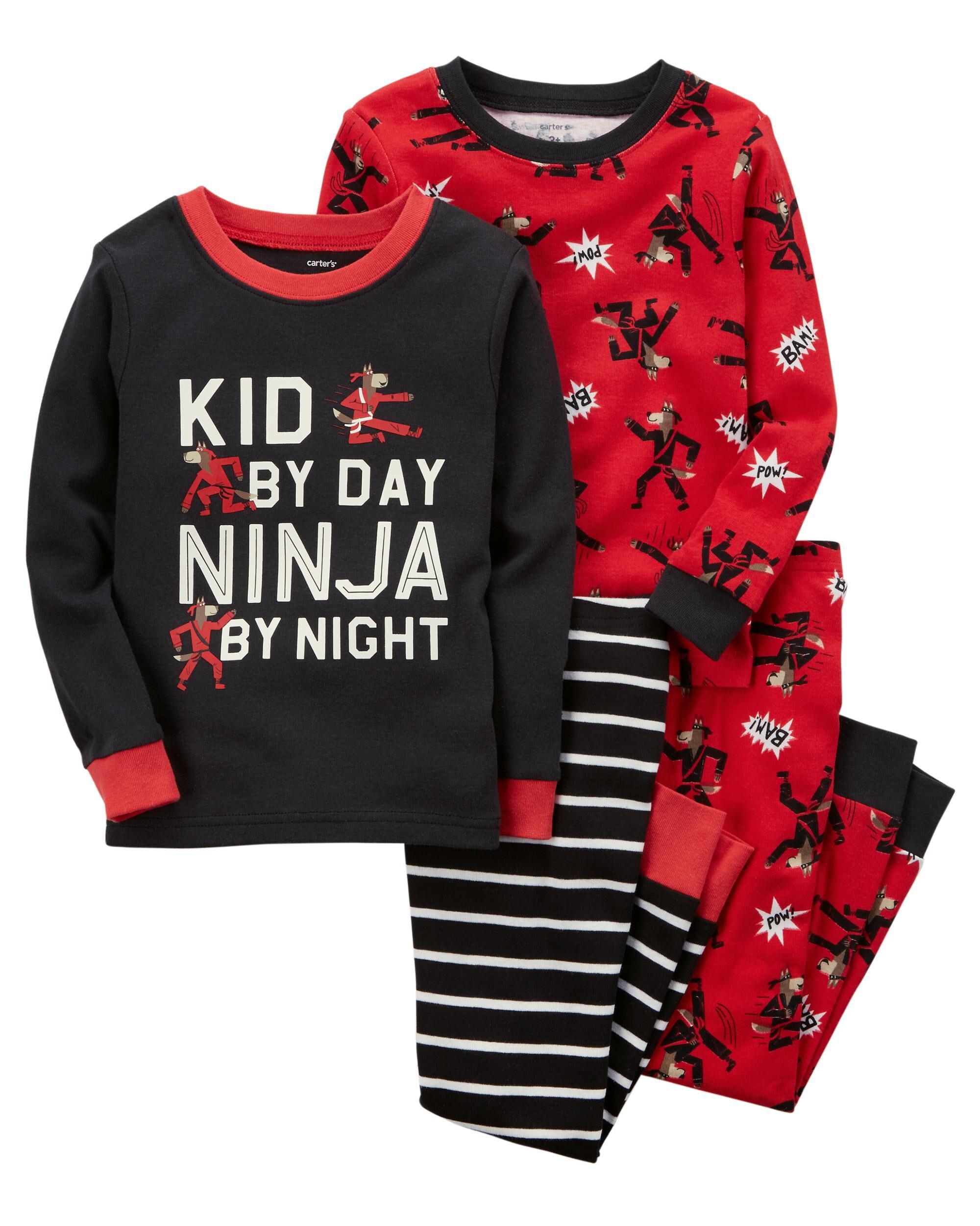 c7760fe61 4-Piece Ninja Snug Fit Cotton PJs