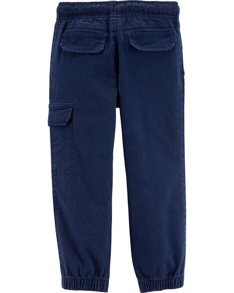 Pull-On Twill Pants