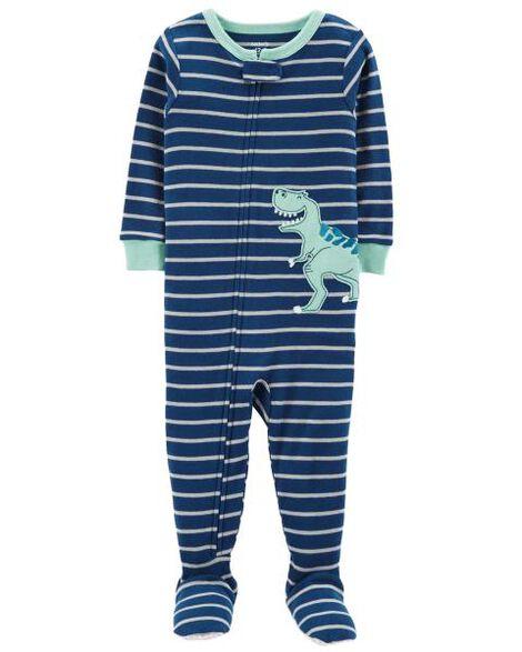 0308e3c6dbf8 1-Piece Dinosaur Snug Fit Cotton PJs