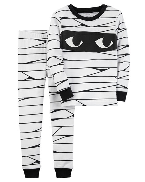 ca52eb79f015 2-Piece Glow-In-The-Dark Snug Fit Cotton Halloween PJs