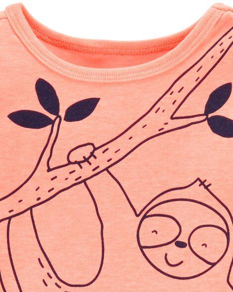 3-Piece Sloth Little Short Set
