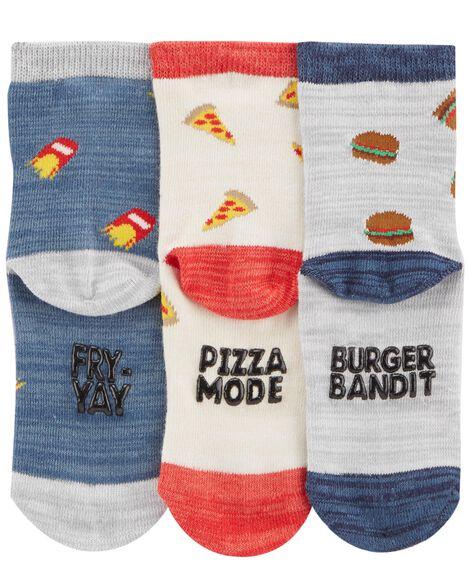 3-Pack Food Crew Socks