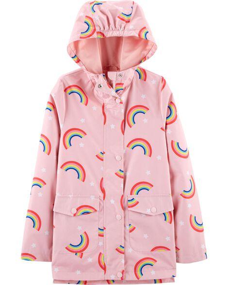 479320b7ff8b Kid Girl Rainbow Rain Jacket