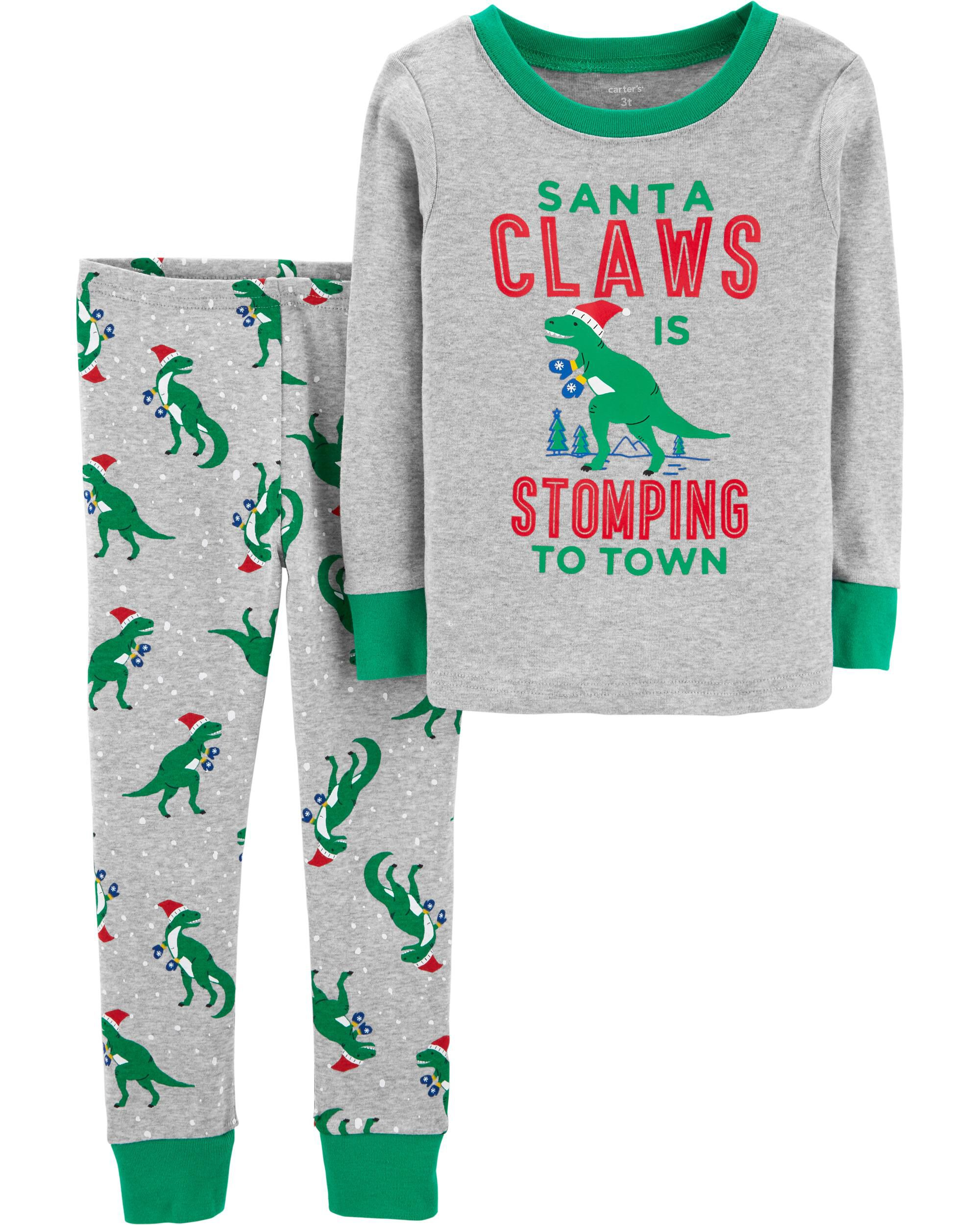 57ddcf483 2-Piece Christmas Snug Fit Cotton PJs