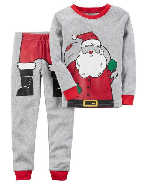 56938f966 2-Piece Santa Snug Fit Cotton PJs