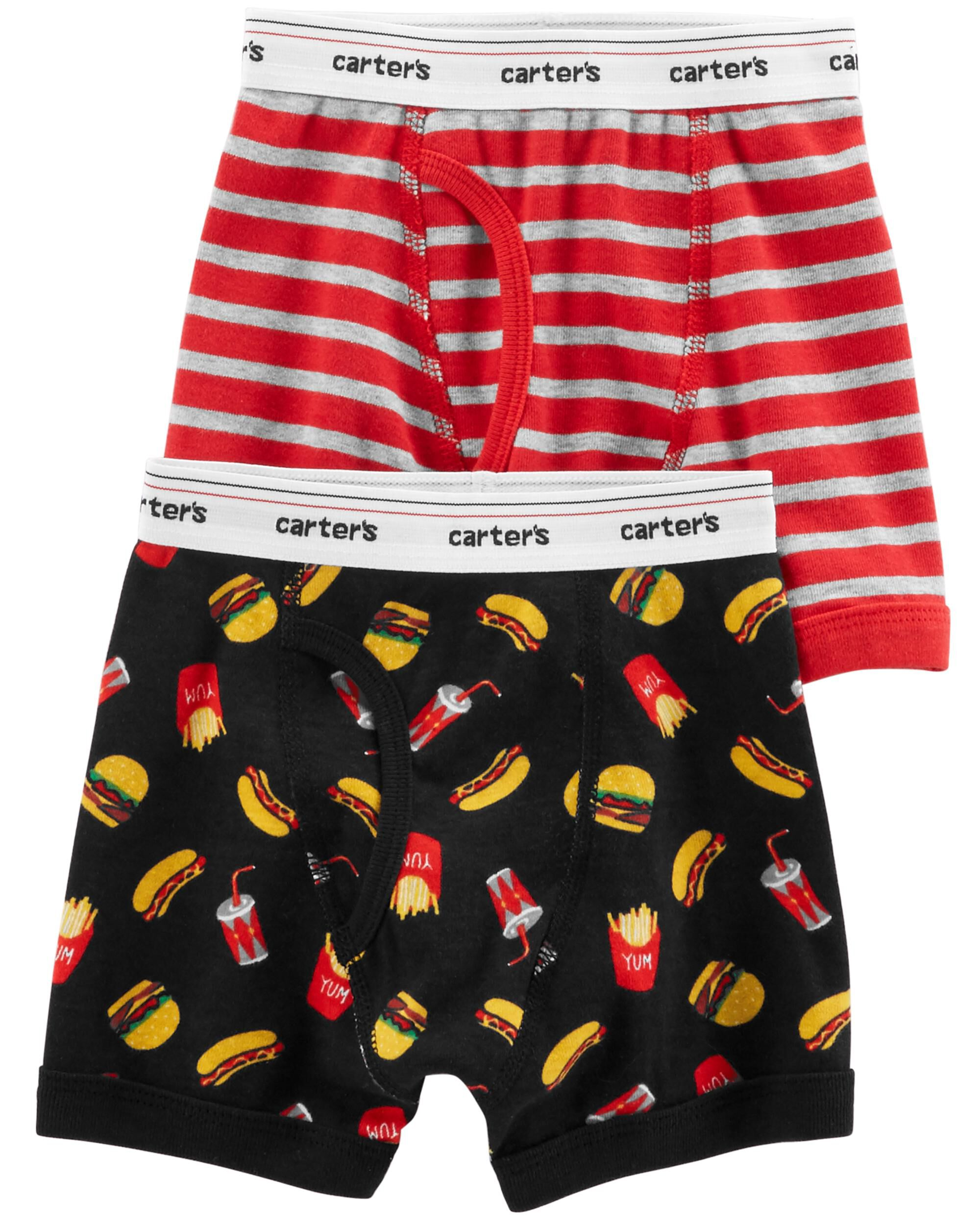 Carters Baby Boys 2 Pack Soft Cotton Shorts