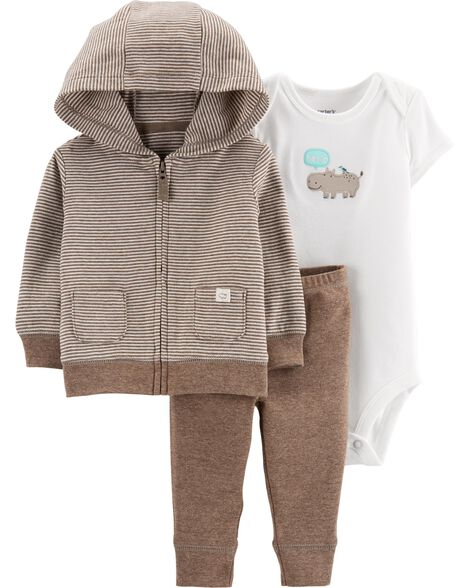 a5a71ce13 3-Piece Hippo Little Jacket Set | Carters.com