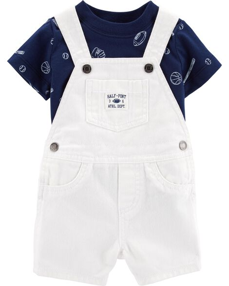 2-Piece Sports Tee & Shortalls Set