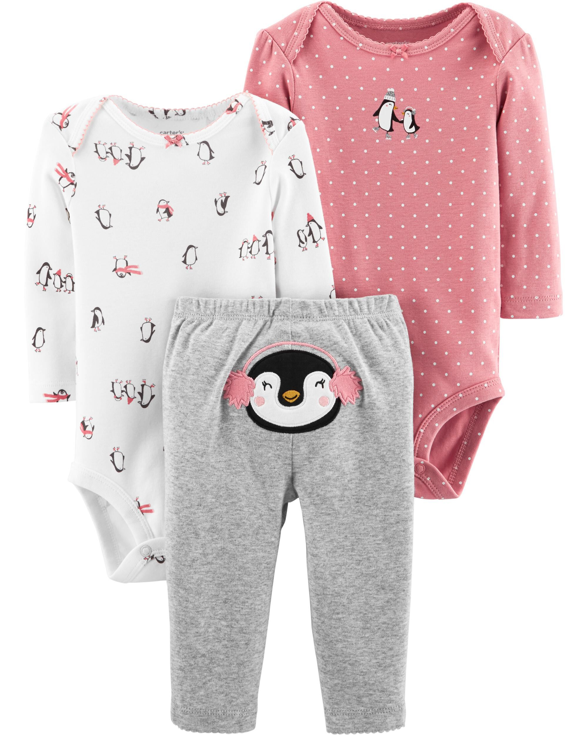 Supply Carters 3 Piece Baby Girl Micro Set~ Jacket/bodysuit/pants ~ 12 Months~free Ship Latest Fashion Outfits & Sets Girls' Clothing (newborn-5t)