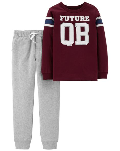 2-Piece Quarterback Tee & French Terry Jogger Set
