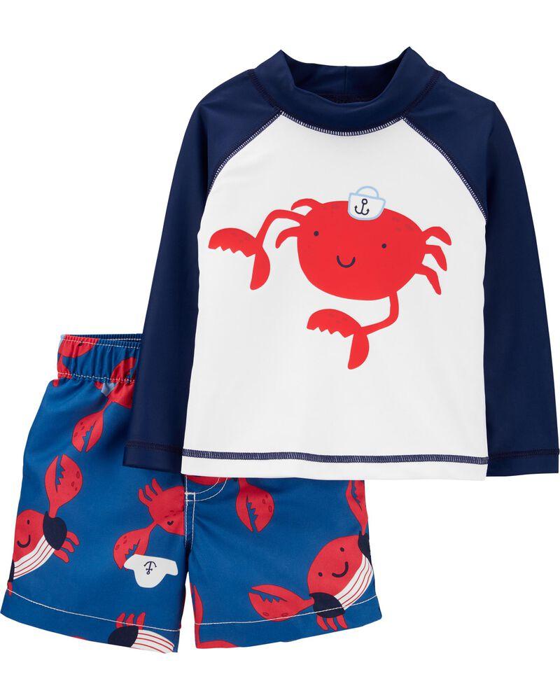 Carters Baby Boys Crab Rash Guard Set