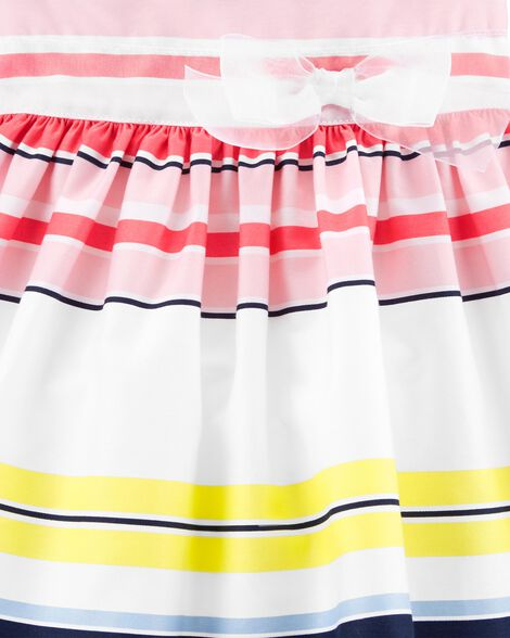 Striped Sateen Dress