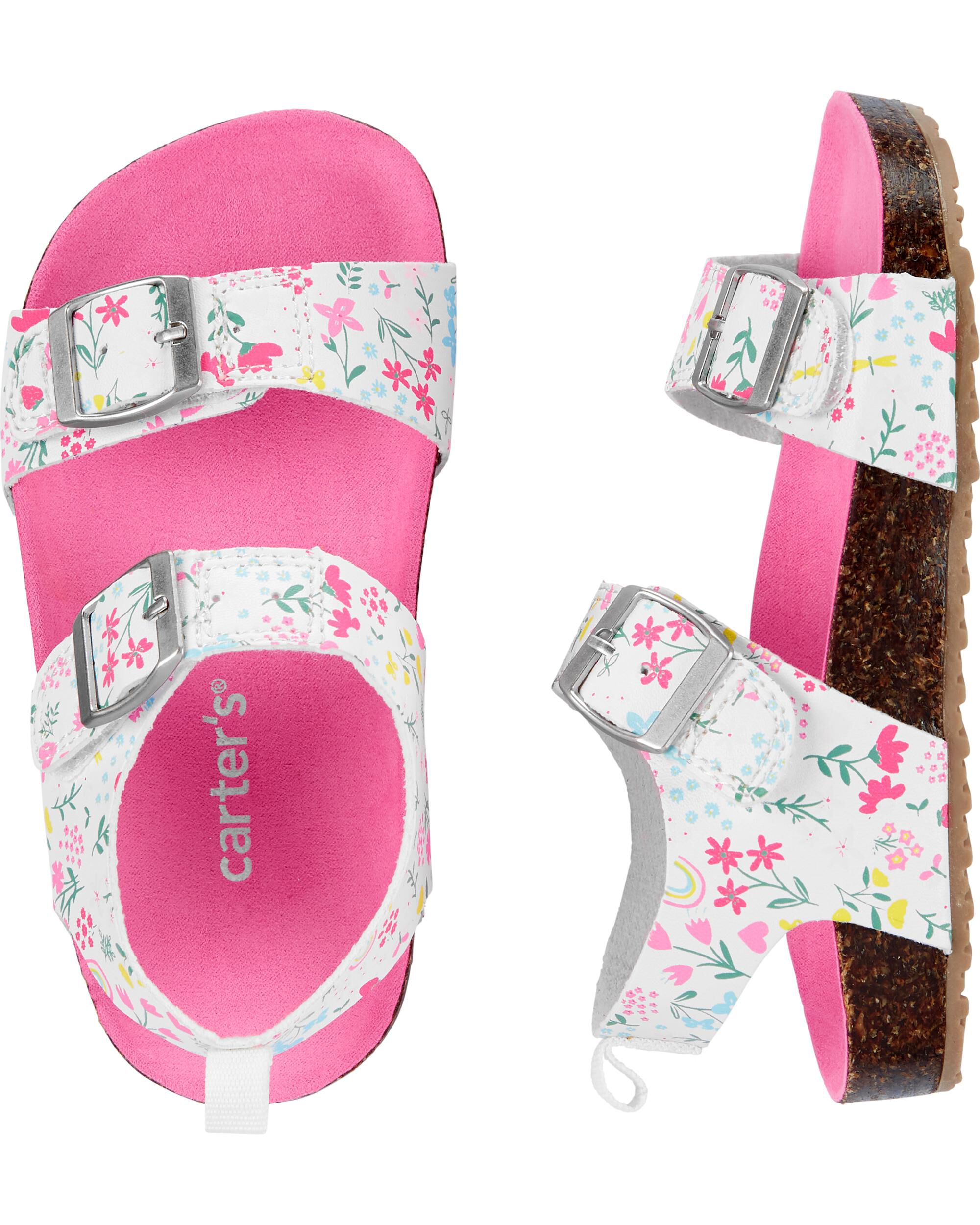 Carter's Floral Cork Sandals   carters.com