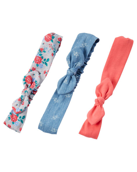 1aab29afd 3-Pack Knot Bow Headwraps | Carters.com