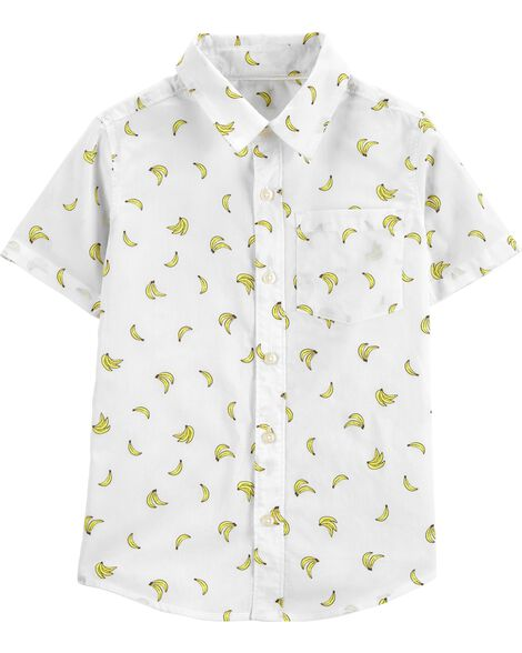 Banana Striped Button-Front Shirt