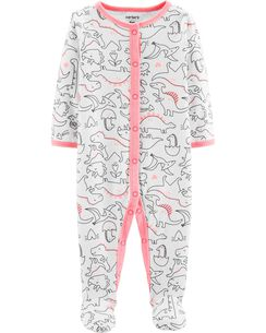 2be4278652b5 Baby Girl Sleep   Play Pajamas