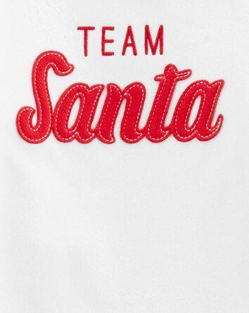 2-Piece Santa Cotton & Fleece PJs