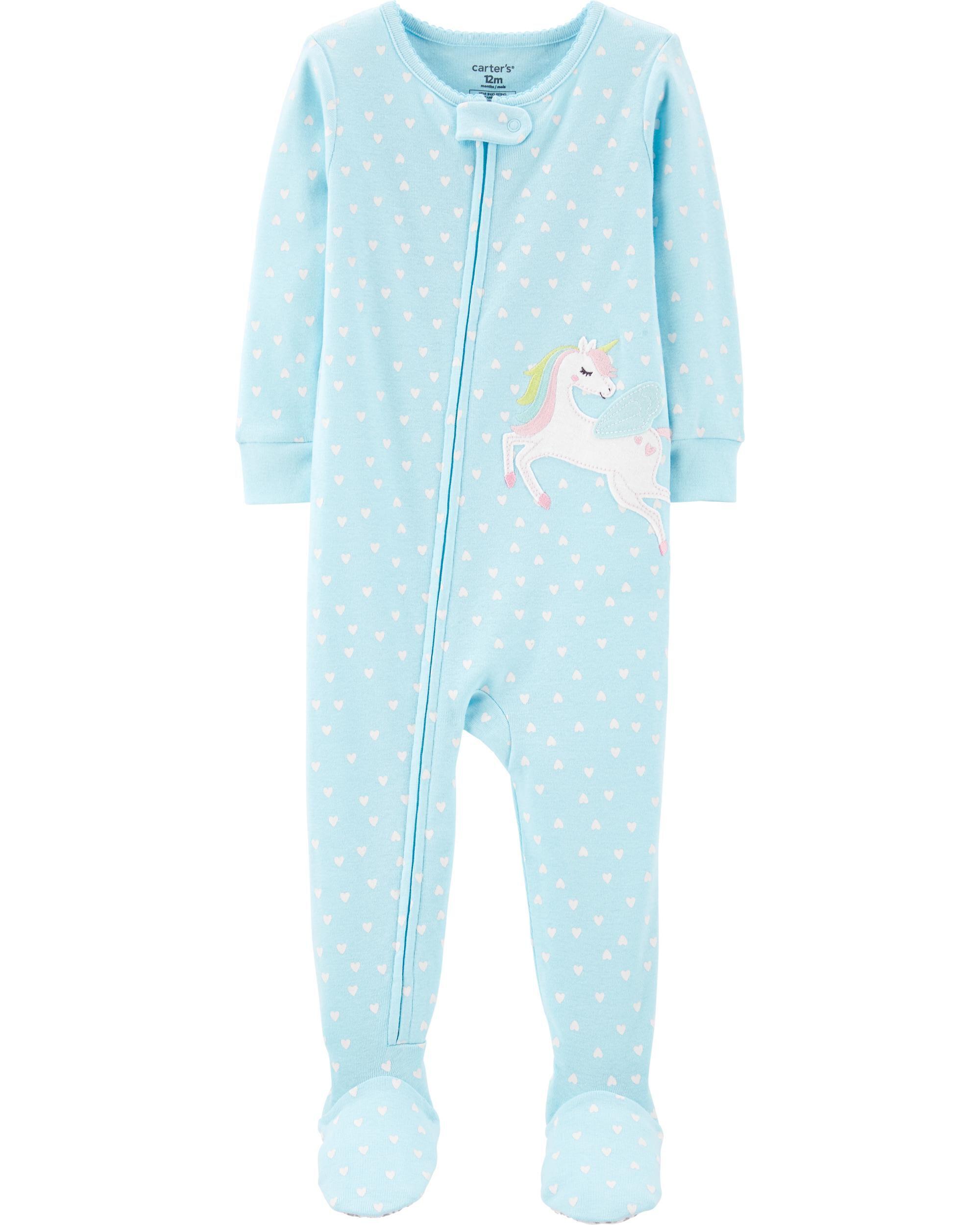 1-Piece Pegasus Snug Fit Cotton Footie PJs