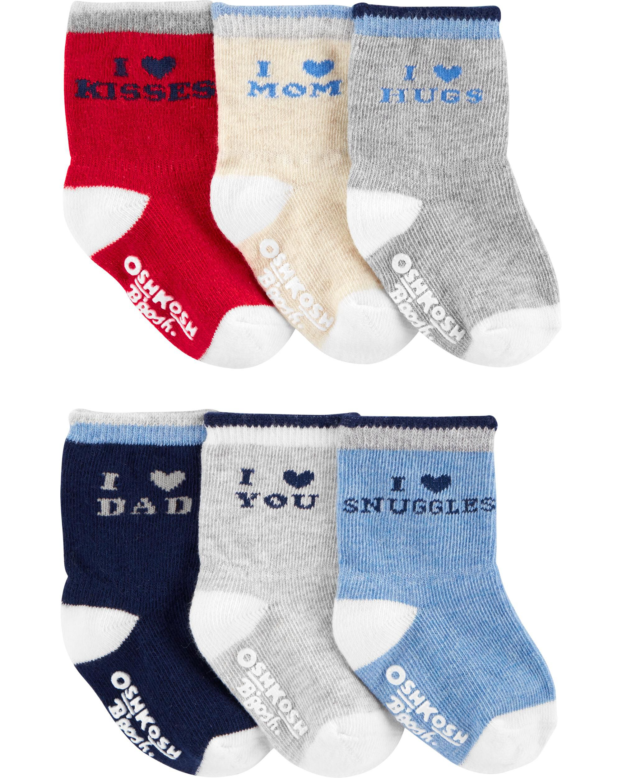 OshKosh BGosh Baby Boys Crew Socks 3-12 Months Days of The Week//Beach 7 Pack