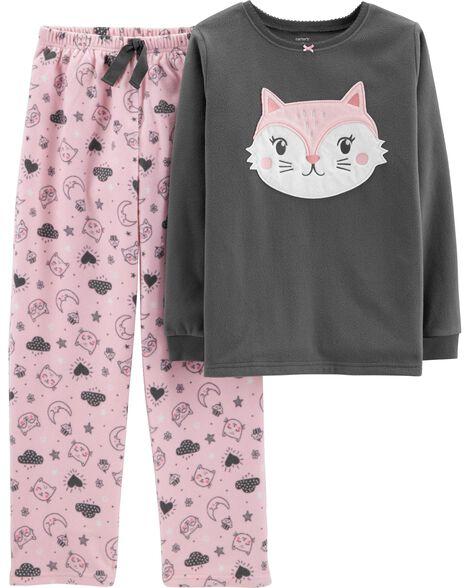 d90b4c668 2-Piece Cat Fleece PJs | Carters.com