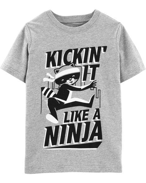 Raccoon Ninja Jersey Tee
