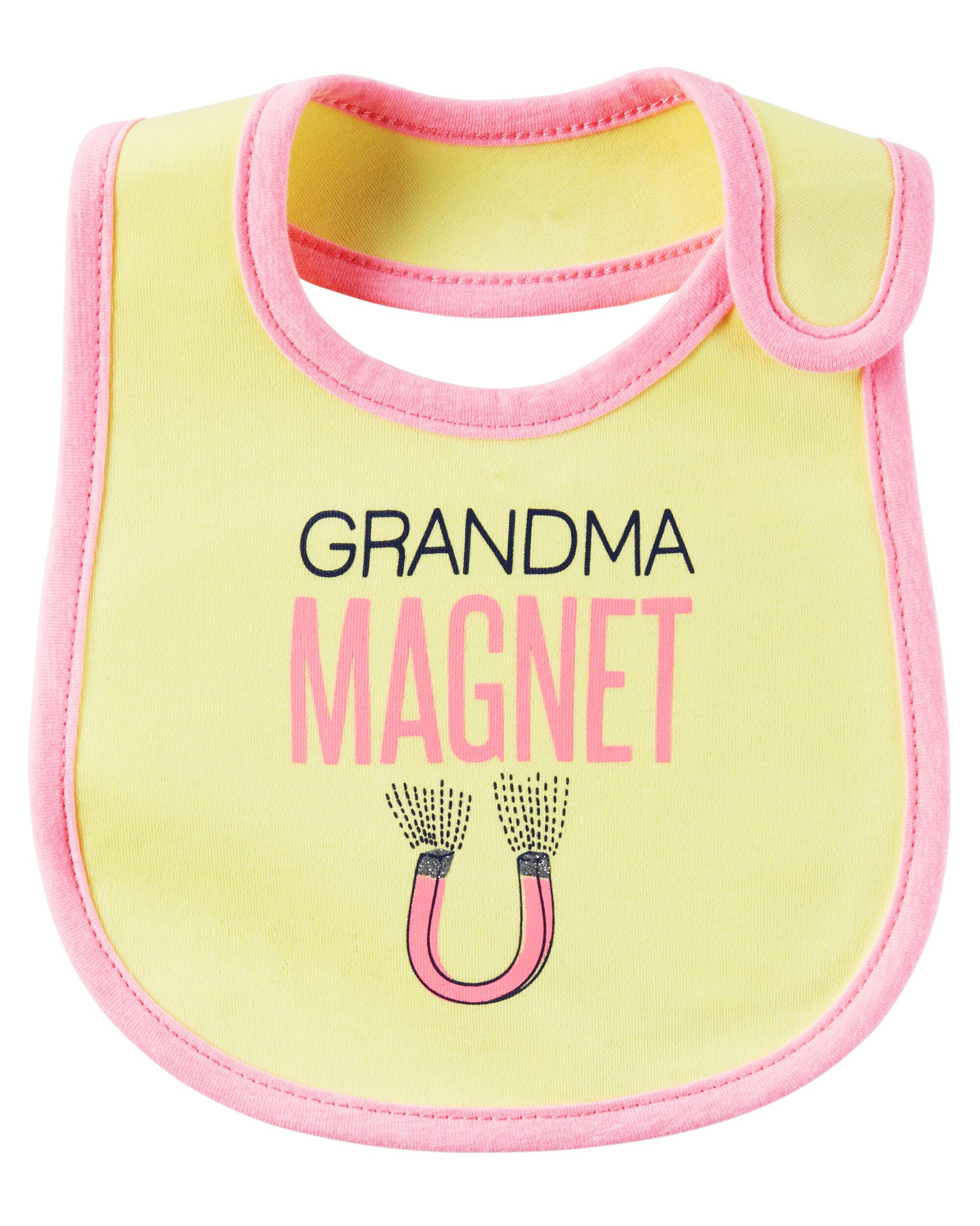 Grandma Magnet Teething Bib