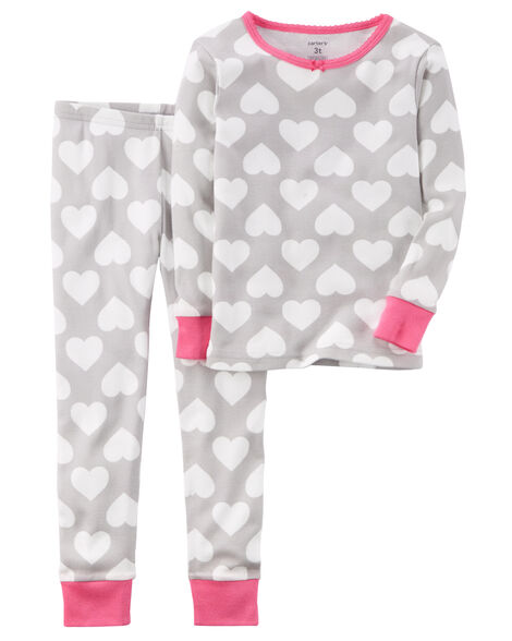 3b3b5235e201 2-Piece Heart Snug Fit Cotton PJs