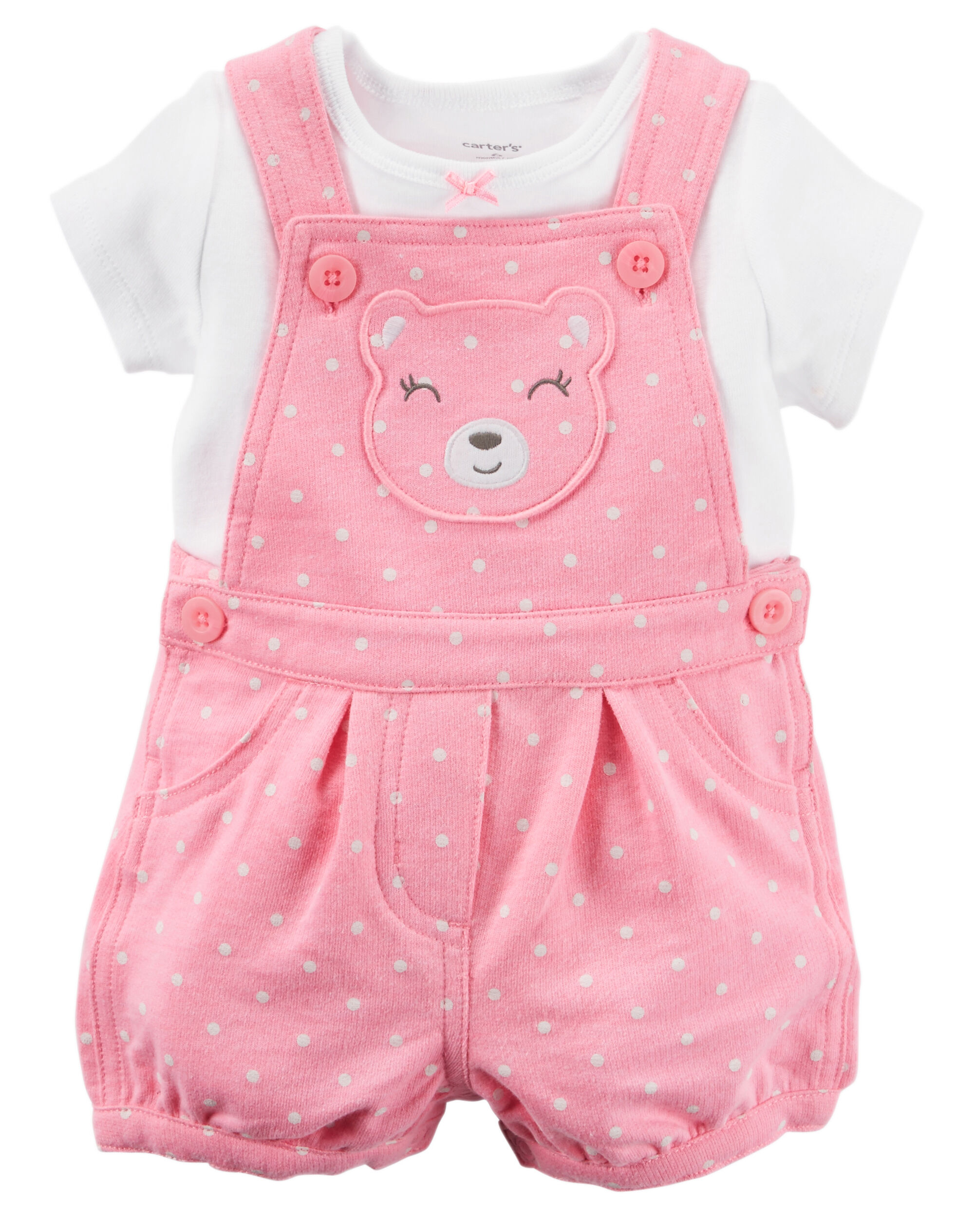 2 piece tee shortalls set
