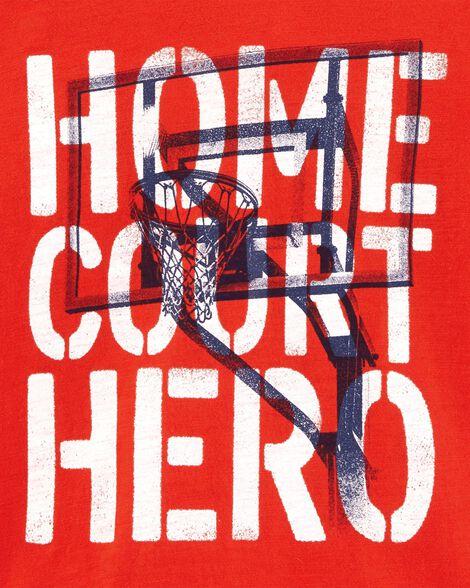 Home Court Hero Basketball Slub Jersey Tee