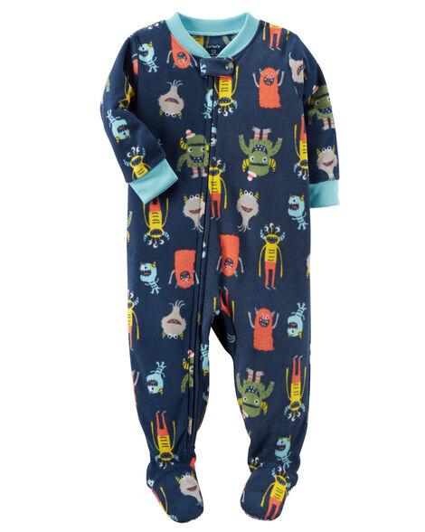 ccdc3e9ec 1-Piece Monster Fleece PJs | Carters.com