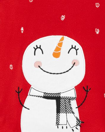 2-Piece Snowman Christmas Fleece PJ...