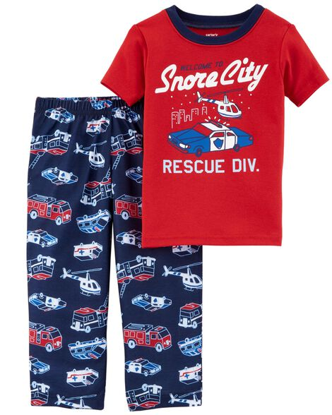 15d355108c01 2-Piece Hero Cotton   Poly PJs