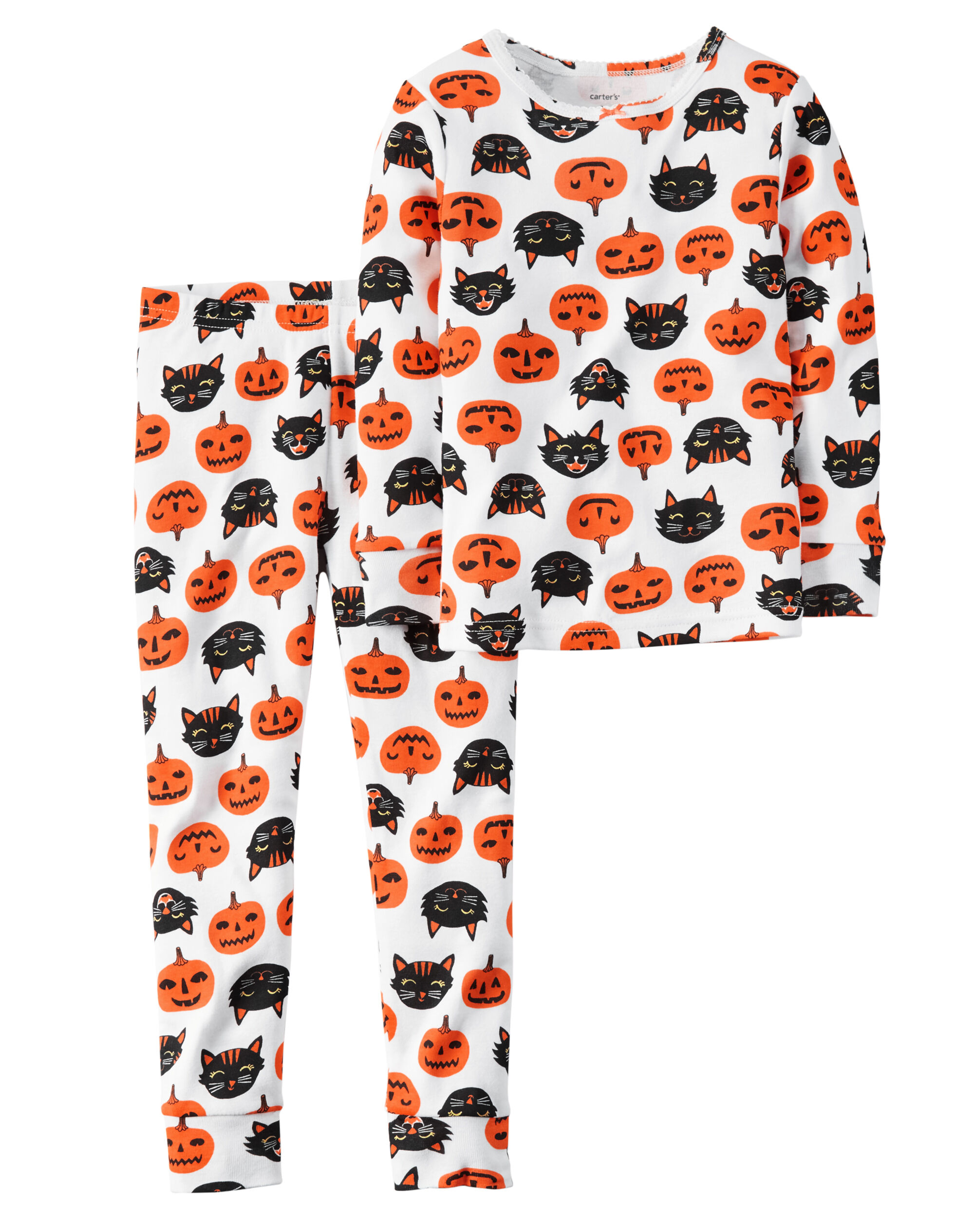 2 piece snug fit cotton halloween pjs loading zoom