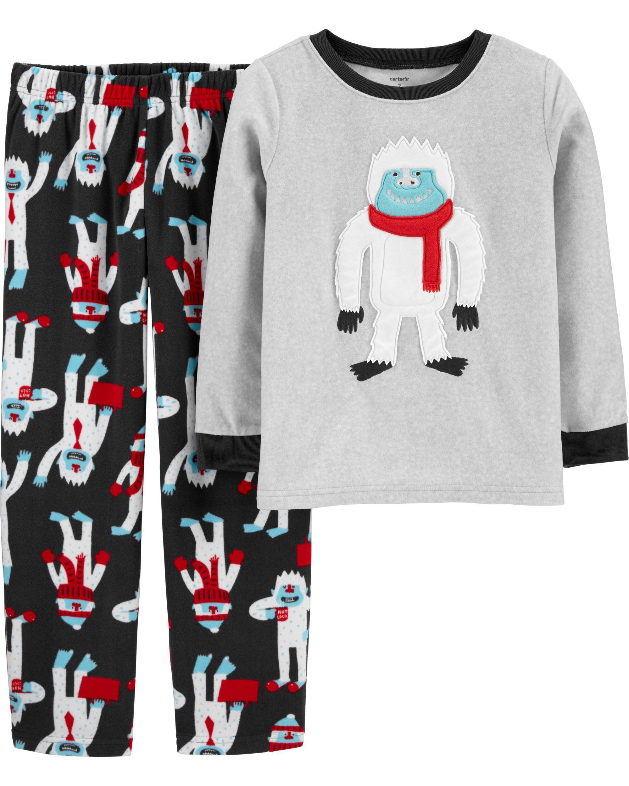 *DOORBUSTER* 2-Piece Abominable Snowman Fleece PJs