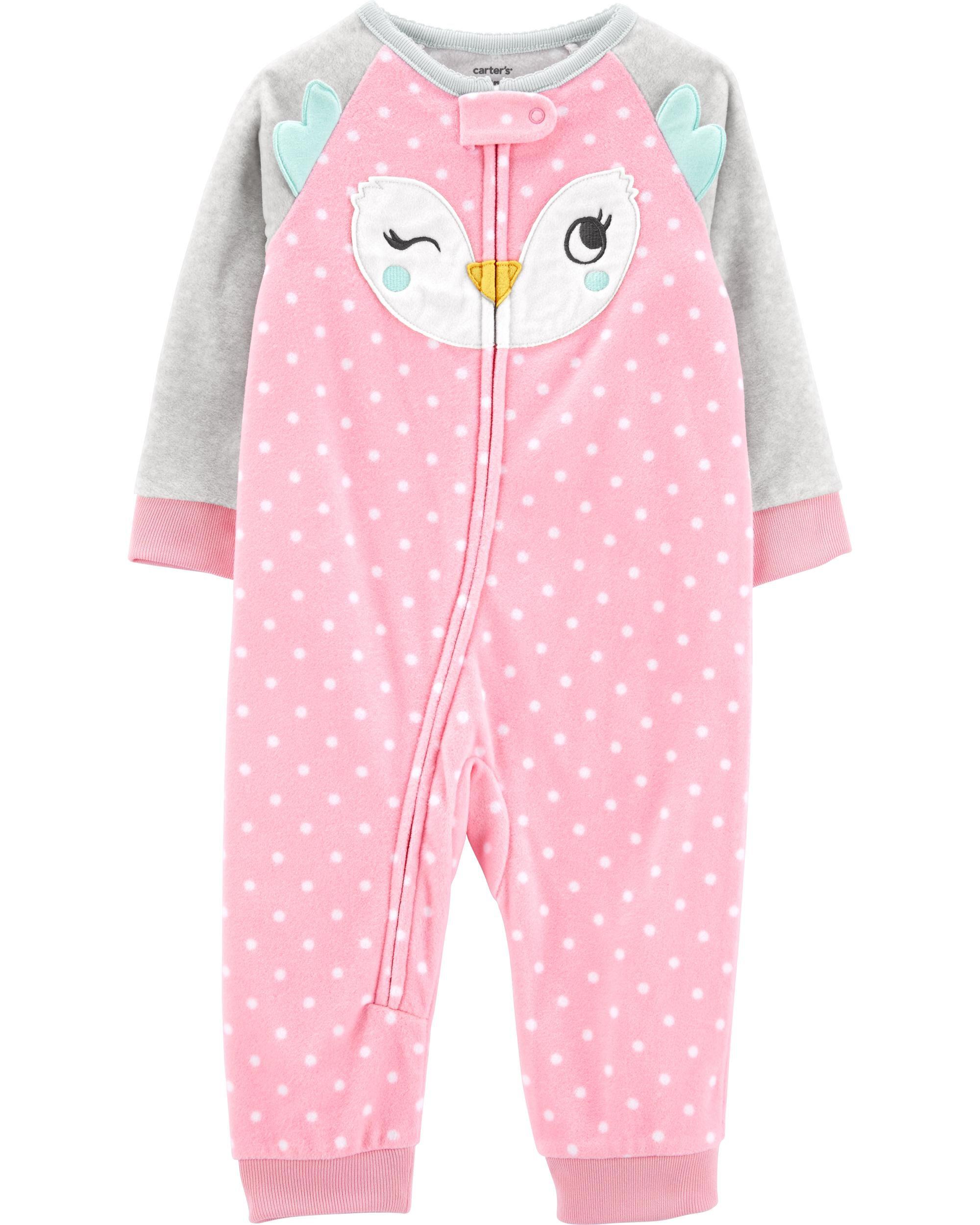 *DOORBUSTER* 1-Piece Owl Fleece Footless PJs