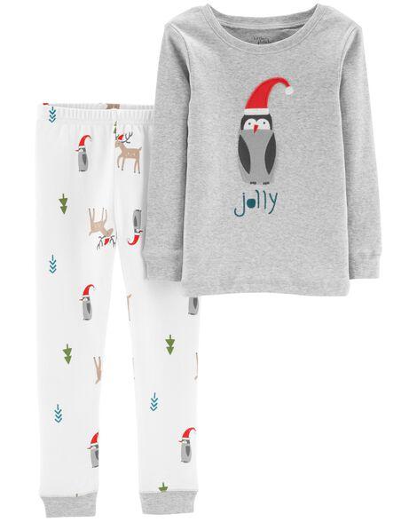 9a1ee0e050 2-Piece Christmas Organic Cotton Snug Fit PJs ...