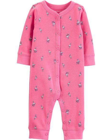 Flamingo Snap-Up Cotton Footless Sleep & Play