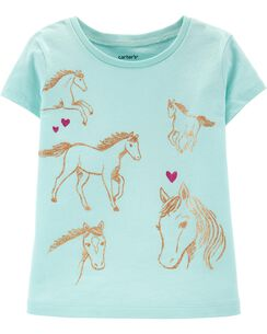 5e15873e4697 Baby Girl Shirts: Tops & T-Shirts | Carter's | Free Shipping
